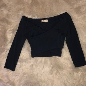 Navy Blue Cropped Top